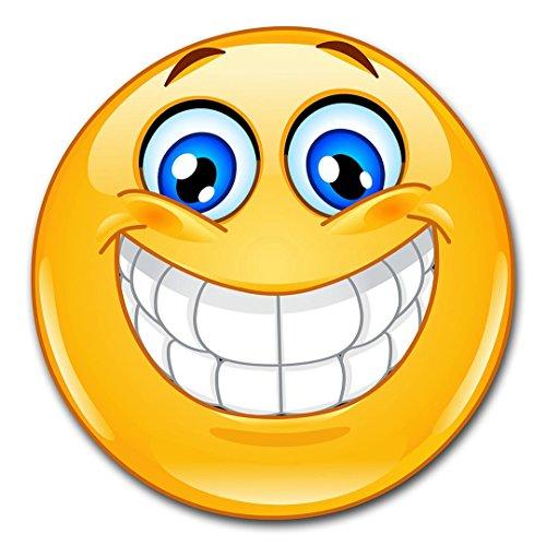 easydruck24de 1 Smiley-Aufkleber Smile XL I kfz_386 I rund Ø 30 cm I Emoticon Sticker lachend für Auto Wohnwagen Wohnmobil Wand-Tattoo I wetterfest