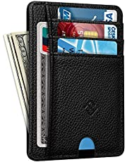 Slimmad minimalistisk fickplånbok, FINTIE RFID-blockering kreditkortshållare korthållare med ID-fönster för män kvinnor,