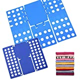 2 Piezas Doblador de Ropa, Azul Tabla para Doblar con Agujeros Tablero Plegable para Ropa Camisas Ropa de niños y Adultos