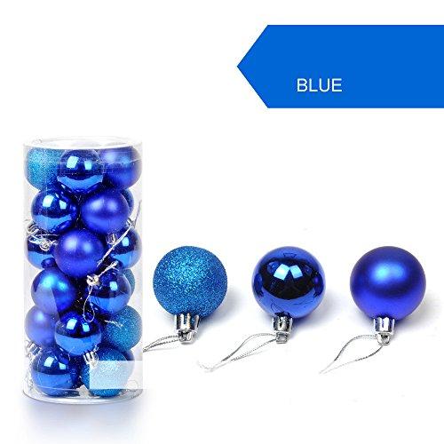 Daorokanduhp 24 pc 30mm Christmas Xmas Tree Ball Bauble Hanging Home Party Ornament Decor