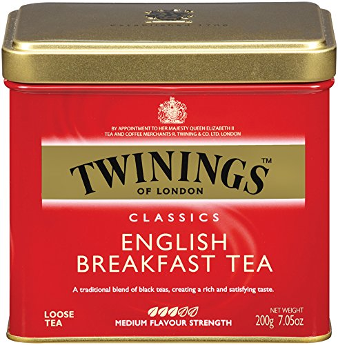 Twinings of London English Breakfast Loose Tea Tins, 7.05 Ounces (Pack of 6)