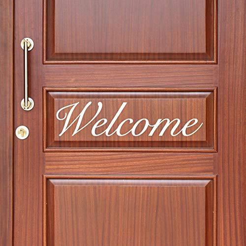 Promini welkom muursticker deur decal entryway muur Decor voordeur Decal deur Decal op maat Decal deur Sticker muur Decor Vinyl Decal 4