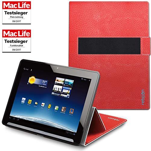 Hülle für Medion Lifetab X10302 Tasche Cover Case Bumper | in Rot Leder | Testsieger