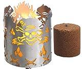 Novaliv Gartenfackel Pirat Feuerschale Metall mit Stiel und Brennmittel