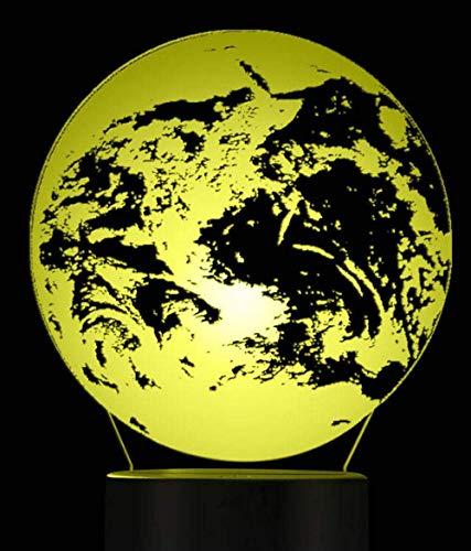 Veilleuse 3D effet 3D terre 3D illusion d'optique veilleuse lampe de table globe terrestre carte du monde lumière d'ambiance lampe de chevet éclairage décoratif