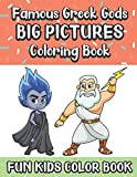 Famous Greek Gods Big Pictures Coloring Book Fun Kids Color Book: Large Full Page Black And White Drawings To Be Colored In By Children And Kids Of All Ages