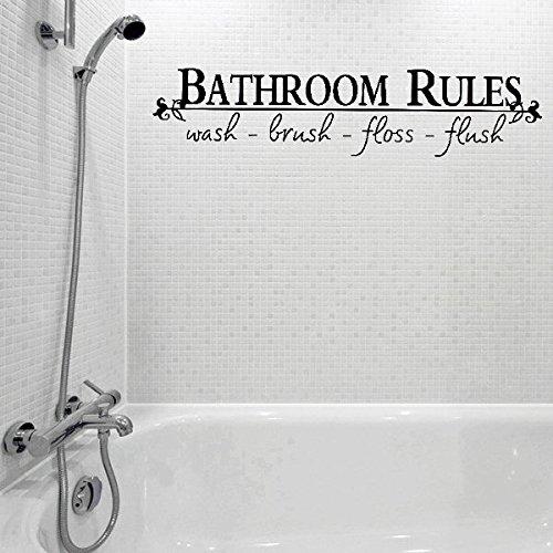 Bazaar Salle de bains de vinyle autocollant règles lettre salle de bains toilettes art stickers muraux