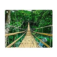 iPad Pro 11 ケース 2020 磁気吸着 充電に対応 熱帯林の川に架かる竹吊り橋_579433460 オートスリープ ウェイク スリム 軽量 シルク手触り 高級感 リバウンドマグネティックスマートケース