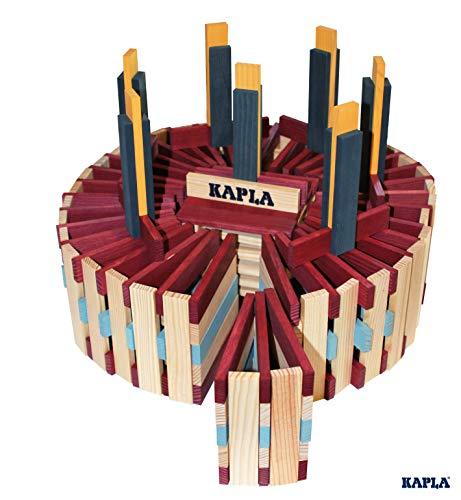 KAPLA OCTOCOLOR, 100 Holzplättchen, 8 verschiedene Farben - 6