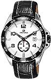 Reloj TIME FORCE de Caballero Sumergible. Calendario Acero Correa Esfera Plata. TF-3327M12