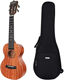 Enya EUC-MAD Concert Ukulele Solid Gloss Mahogany Original Color 23 Inch with High-end 15mm Padded Gig Bag