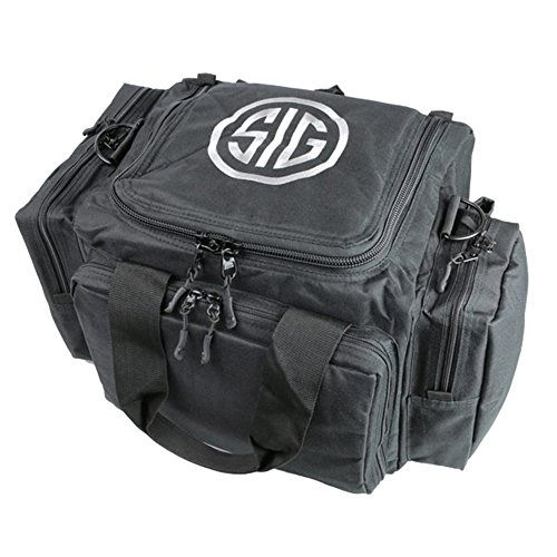 SigTac Sig Sauer Tactical Handgun Pistol Revolver Range Bag w/ 5 Pockets & Shoulder Strap