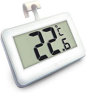 xdrfxrghjku Termómetro Interior De Alta Precisión Sala De Flores Refrigerador Congelador Termómetro Imán con Gancho Blanco