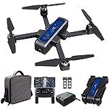 Drone Bugs 4W GPS FPV Drone con videocamera 4K HD, trasmissione WiFi 5G, quadricottero RC pieghevole senza spazzole con posizionamento del flusso ottico, ritorno automatico, con borsa,2 battery