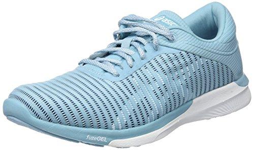 Asics Fuzex Rush Adapt, Zapatillas de Entrenamiento Mujer, Azul (Porcelain Blue/White/Smoke Blue 1401), 38 EU