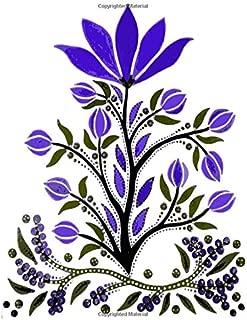 Slavic Folk Art Notebook 19: Blank Line Composition Writing College Ruled Journal (Anthony's Art)