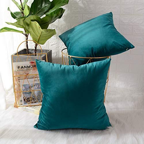 (30% OFF) Velvet Square Throw Pillowcase Cover 2-Pack $6.99 Deal