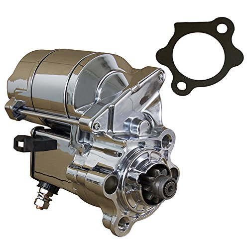 Rareelectrical New Chrome Starter Compatible With Harley Davidson Sportster 883 1000 1200 Deluxe Custom 1981-2012 By Part Numbers 31390-91 31391-91 31390-91A 31390-91B 31390-86 31533-81 31391-91A