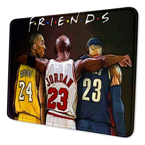 FANIMAL Basketball Gaming Mouse Pad Custom, Cool Basketball Design Mouse Pads for Boys Men, Non-Slip Large Rectangle Mouse Mat Pad for Laptop Computers Office 11.8 x 9.8 inch