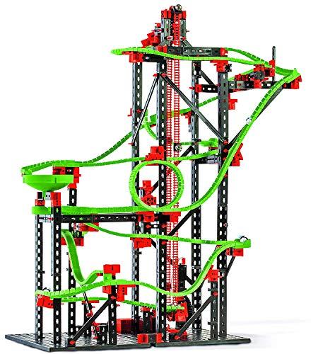 fischertechnik 536621 Kugelbahn Dynamic L² mit 4,5m Streckenlänge Komplettset inklusive Motor für Kinder ab 9 Jahren 3 ActionparcoursModelle und 4 Versuchsmodelle
