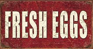 Desperate Enterprises Fresh Eggs Tin Sign, 16