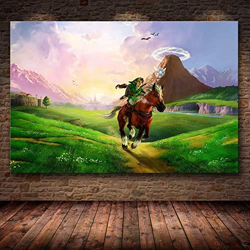 Puzzle 1000 Piezas Pintura del Juego The Legend of Zelda: Breath of The Wild Puzzle 1000 Piezas educa Educativo Divertido Juego Familiar para niños adultos50x75cm(20x30inch)