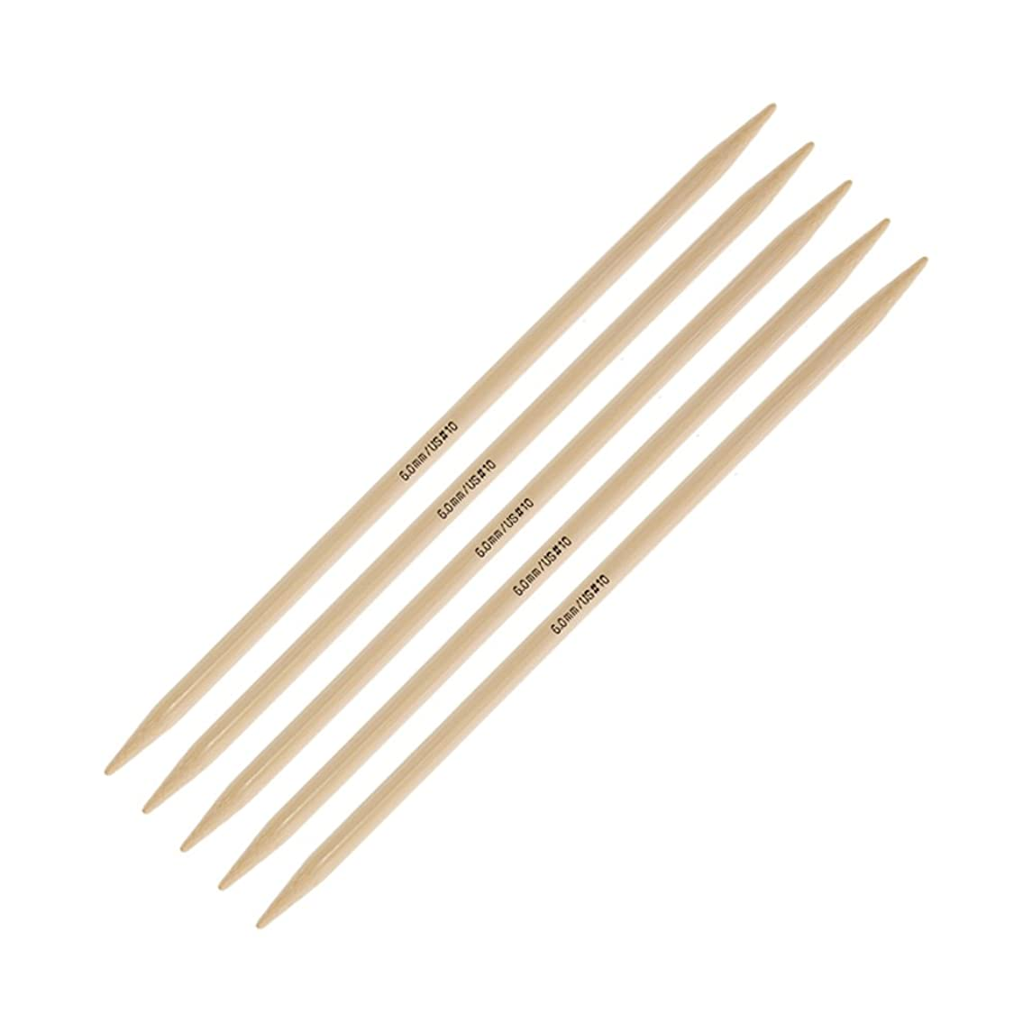 addi Knitting Needle Double Pointed Natura Bamboo 8 inch (20cm) (Set of 5) Size US 10 (6.0mm)