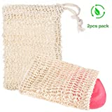 Siumir 2PCS Sisal Seifensäckchen mit Kordel Natur Seifensack für aufschäumen, Massage, Lagerung