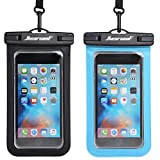 Hiearcool Universal Waterproof Case,Waterproof Phone Pouch for iPhone 11 Pro Max XS Max XR X 8 7 6S Plus Samsung Galaxy s10/s9 Google Pixel 2 HTC Up to 7.0',IPX8 Cellphone Dry Bag -2 Pack