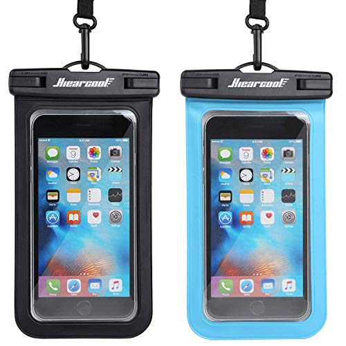 Universal Waterproof Case,Waterproof Phone Pouch Compatible for iPhone 12 Pro 11 Pro Max XS Max XR X 8 7 Samsung Galaxy s10/s9 Google Pixel 2 HTC Up to 7.0, IPX8 Cellphone Dry Bag -2 Pack