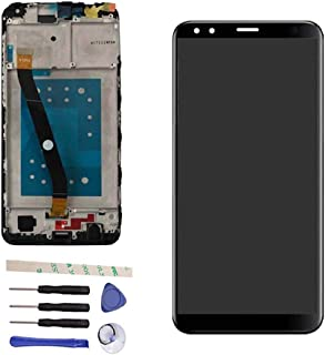 100% Tested Well LCD Display Touch Screen Digitizer Assembly Replacemnt with Frame for Huawei Honor 7X BND-TL10 BND-AL10 BND-L21 BND-L22 BND-L24 (with Honor Logo) (Black)
