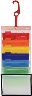 Esselte エセルテ ソーテッド6段 3WAYファイル A5 6ポケット 見出しラベル付 壁掛けファイル 書類収納 壁掛けポケット 書類整理 吊り下げフック ウォールポケット クレジットカード明細 領収書 請求書 カタログ パンフレット 取...