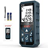 Laser Measure, DTAPE 328 Feet Digital Laser Tape Measure M/In/Ft Unit switching Backlit LCD and Pythagorean Mode, Measure Distance, Area and Volume - Hand Strap and Battery Included DT100
