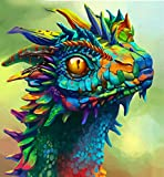 WEIYP 5D Diamond Painting Kits for Adults Full Drill The Dragon Embroidery Painting Paint with Diamond for Christmas Home Wall Decor(Colored Dragon13.8x17.7inch/35x45cm)