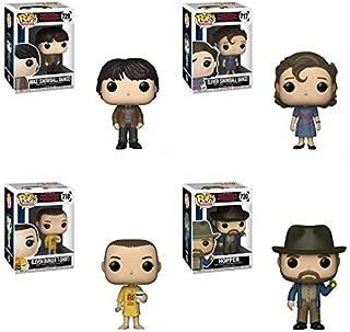 Pop! Television: Stranger Things S3 - Mike and Eleven (Snowball Dance), Hopper, Eleven (Burger T-Shirt) Vinyl Figures Set