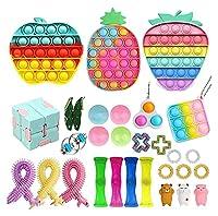 フィジットパック、フィジットパック安いストレスリリーフのフィジットおもちゃ大理石のメッシュポップ不安チューブgitgetのおもちゃの男性のための玩具 (Color : Fidget Pack-3)
