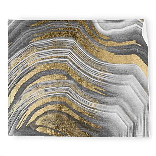 Manta de franela moderna de pintura abstracta, suave, cálida, acogedora, colorida manta decorativa para sofá, 127 x 152 cm