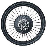 imortor 36V240W Todo en Uno Rueda Delantera Kit de Conversión Ebike Sin Escobillas Motor de Buje sin Gearless Llanta+Radios+Rueda de Neumático para Bicicleta de 26 '' (26'' x1.95)