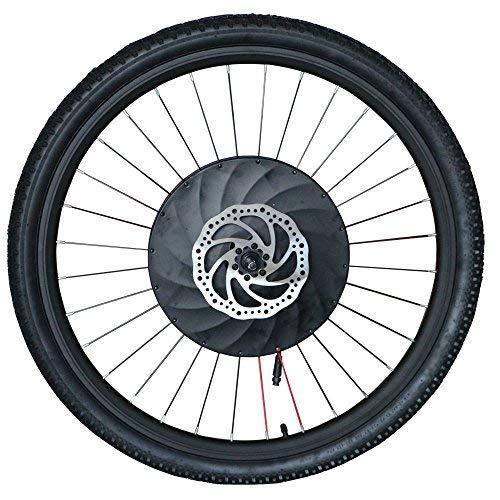 imortor 36V240W Todo en Uno Rueda Delantera Kit de Conversión Ebike Sin Escobillas Motor de Buje sin Gearless Llanta+Radios+Rueda de Neumático para Bicicleta de 26
