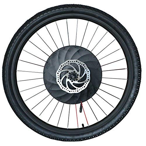 Imortor - Kit de conversión para bicicleta de ruedas delanteras (36 V240 W, sin escobillas, motor sin engranajes, llanta, radios y rueda de neumático para bicicleta de 26 pulgadas), tamaño 26''x1.95