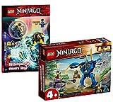 Collectix Lego Set Ninjago Jays Elektro-Mech 71740 + Ninjago diversión para ninja inteligente (cubierta blanda)