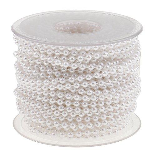 MagiDeal 20 Meter Perlenband - Weiß, 20 Meter