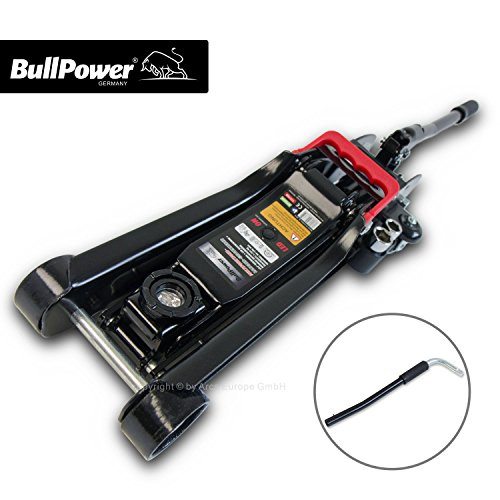 BullPower BP600K Wagenheber 2,25T Low Profile 80mm - 365mm 2250kg mit LED für Racing-Sportwagen, Rennsport