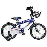 BTM 子ども用自転車 補助輪付き 軽量 16インチ 95%組立完了 1年安心保証 PL保険加入済み クリスマスプレゼント ブルー (ブルー, 16インチ)