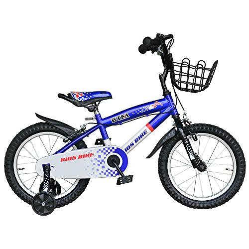 BTM 子ども用自転車 補助輪付き 軽量 16インチ 95%組立完了 1年安心保証 PL保険加入済み クリスマスプレゼ...