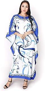 جلابية عربية ماكسي عبايات مسلم بوليستر قفطان رقبة دائرية رداء نصف كم ثوب طويل قطعة واحدة للنساء