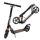 Apollo XXL Wheel Scooter 200 mm - Spectre Pro Orange est Un Trotinette City Scooter de à Double Suspension, XXL City-Roller Pliable et réglable en Hauteur, Trottinette