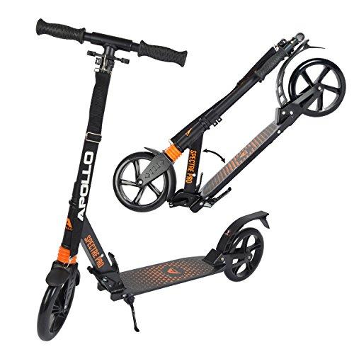 Apollo Monopattino XXL Wheel 200 mm - Spectre PRO è Un Monopattino City Scooter di Lusso con Doppia Sospensione, City-Roller XXL Pieghevole e con Altezza Regolabile, Monopattino
