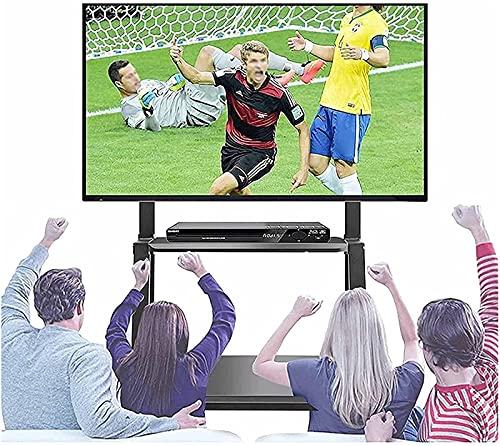 GDEVNSL Soporte para TV móvil Mejorado Sala de Estar/Dormitorio con Ruedas Se Adapta al Carrito de TV con Ruedas de Altura de 43-65 Pulgadas con Estante AV