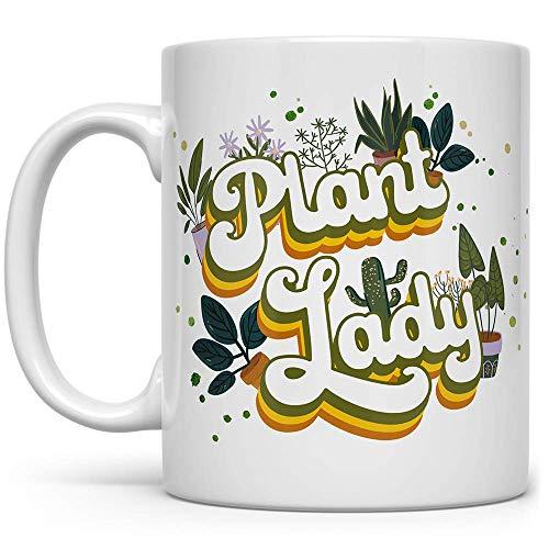 Plant Lady Coffee Mug, Houseplant Lover Tea Cup, Gardner Landscape Green Thumb Gifts (11oz)